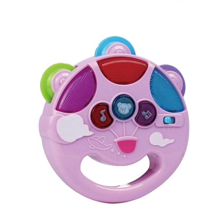Развивающая игрушка Pituso Музыкальный бубен розовый