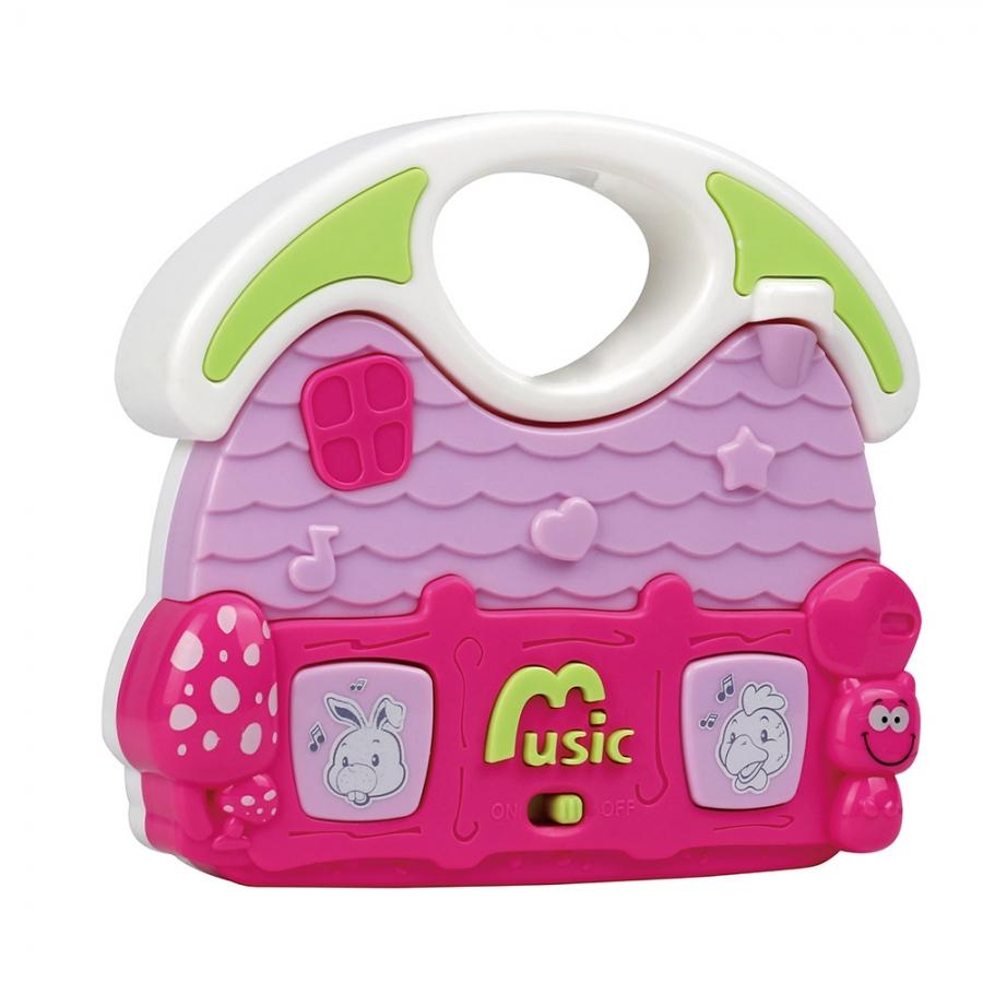 Развивающая игрушка Pituso Музыкальный дом розовый