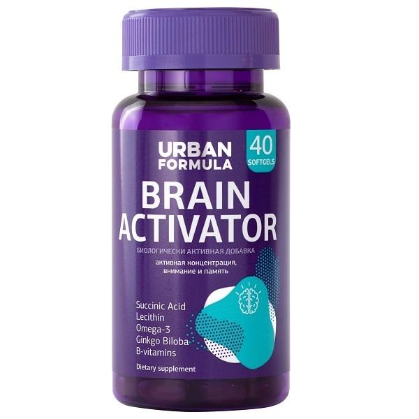 Комплекс Urban Formula для концентрации внимания и памяти Brain Activator капсулы 40 шт.  - купить со скидкой
