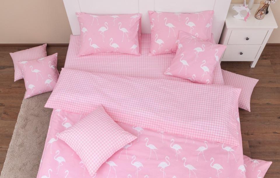 Купить Комплект постельного белья Хлопковый край Фламинго розовый 1, 5 спальный, Хлопковый Край,