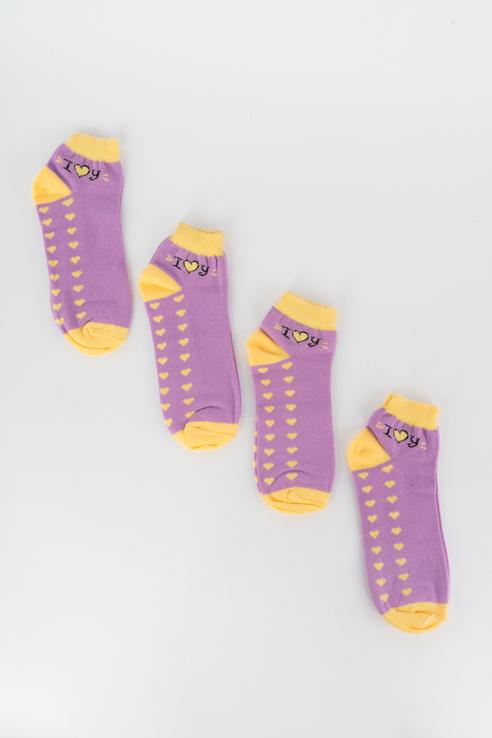 Набор носков женский Мой размер Ж-199_4 шт Фиолетовый фиолетовый
