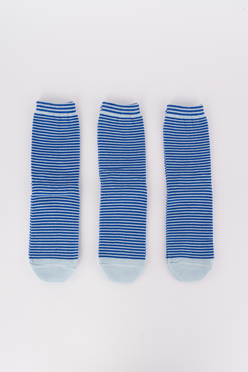 Набор носков женский Мой размер Ж-077_3 шт Синий синий