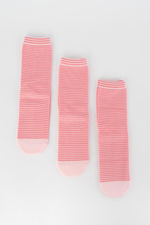 Набор носков женский Мой размер Ж-077_3 шт Красный красный