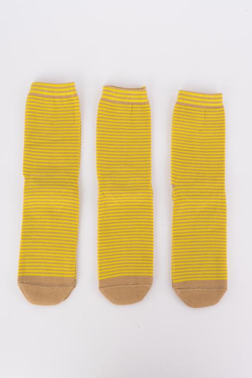 Набор носков женский Мой размер Ж-077_3 шт Коричневый коричневый