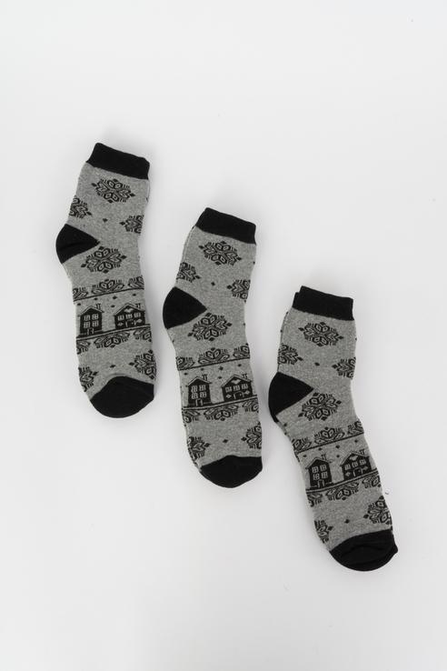 Набор носков женский Мой размер Ж-194_3 шт Черный черный