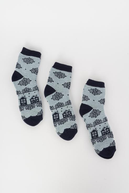 Набор носков женский Мой размер Ж-194_3 шт Серый серый