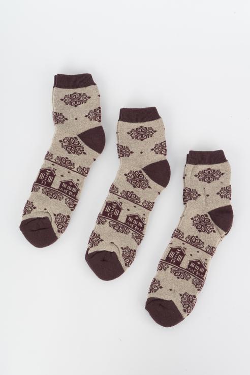 Набор носков женский Мой размер Ж-194_3 шт Коричневый коричневый
