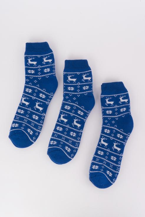 Набор носков женский Мой размер Ж-022_3 шт Синий синий