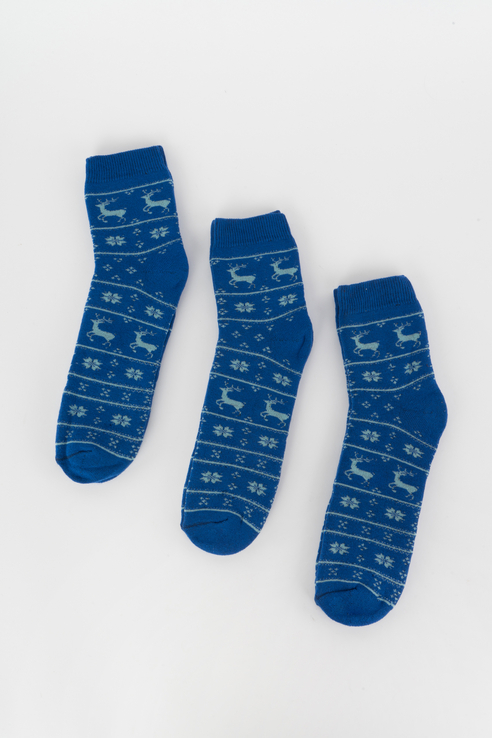 Набор носков женский Мой размер Ж-022_3 шт Голубой голубой