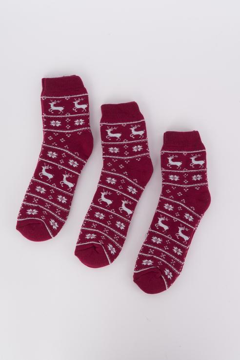 Набор носков женский Мой размер Ж-022_3 шт Бордовый бордовый