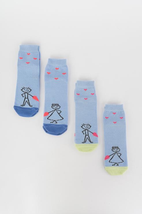 Набор носков женский Мой размер Ж-049_4 шт Синий синий