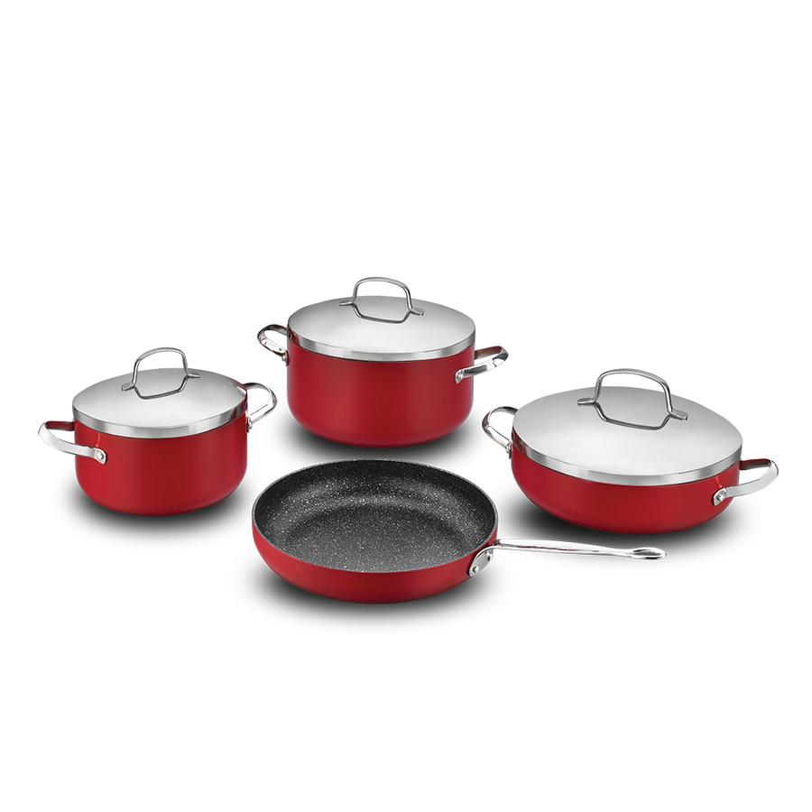 Набор посуды 7 предметов Korkmaz Zeta Plus
