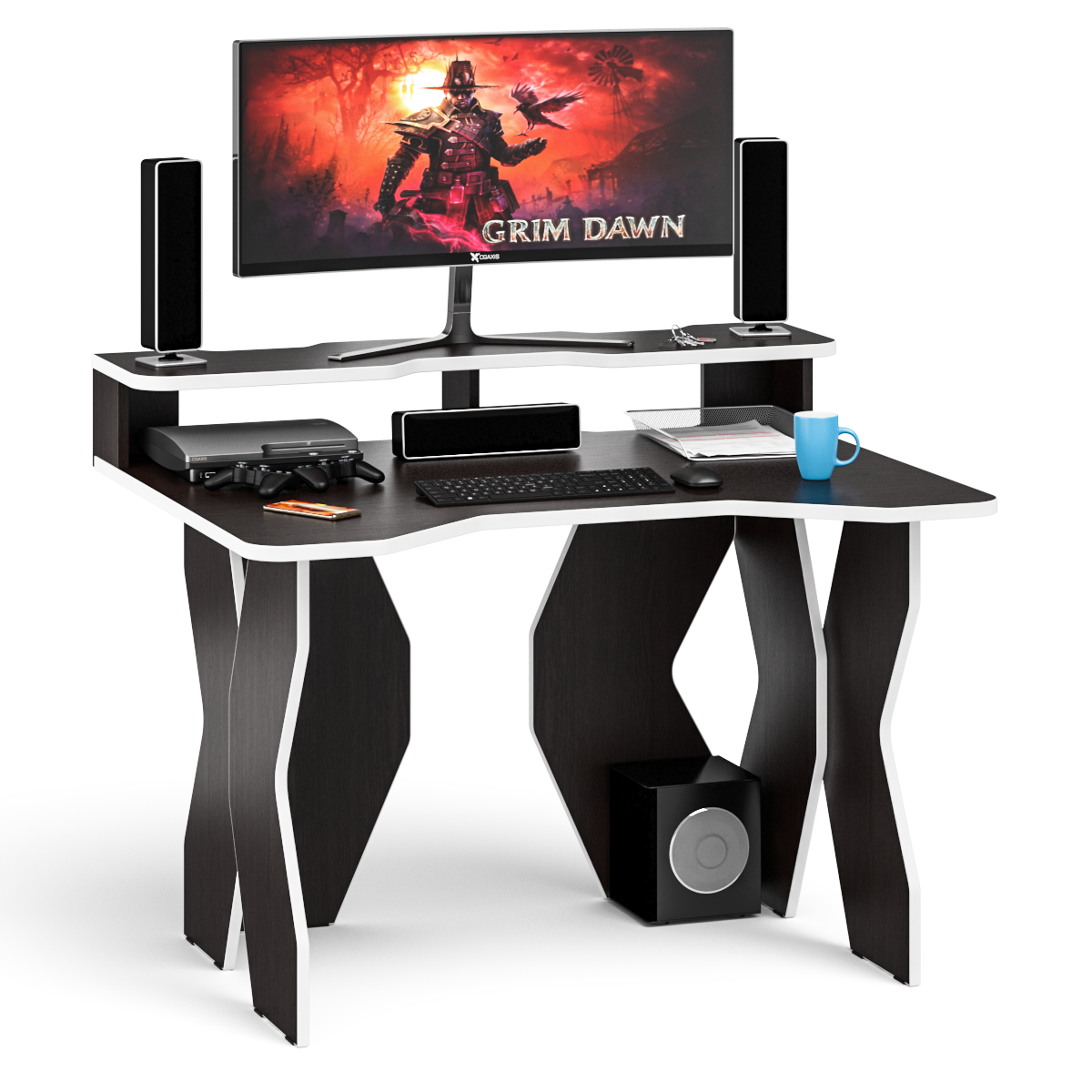Стол геймерский Мебельный Двор СК6 1200Н венге/кромка