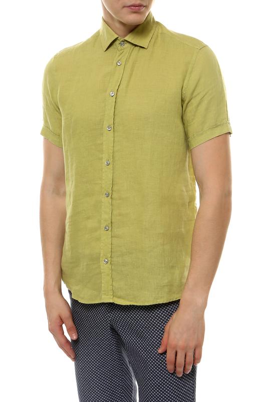 Рубашка мужская Sand SJ SS17 8823 зеленая 44