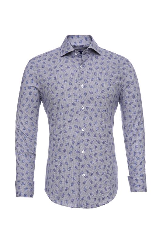 Рубашка мужская BAWER RZ2412070-04 голубая 48
