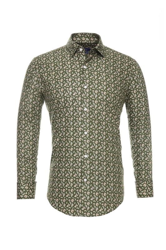 Рубашка мужская BAWER RZ2412070-03 зеленая 50