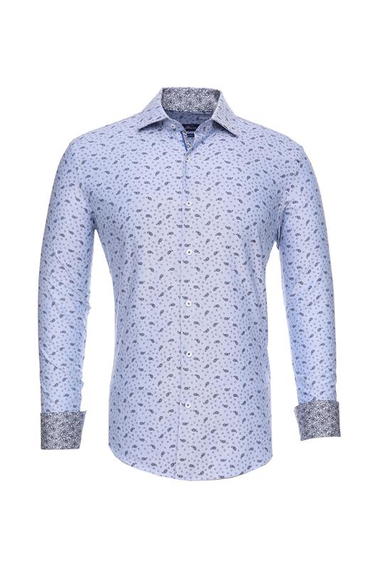 Рубашка мужская BAWER RZ2412069-02 голубая 46