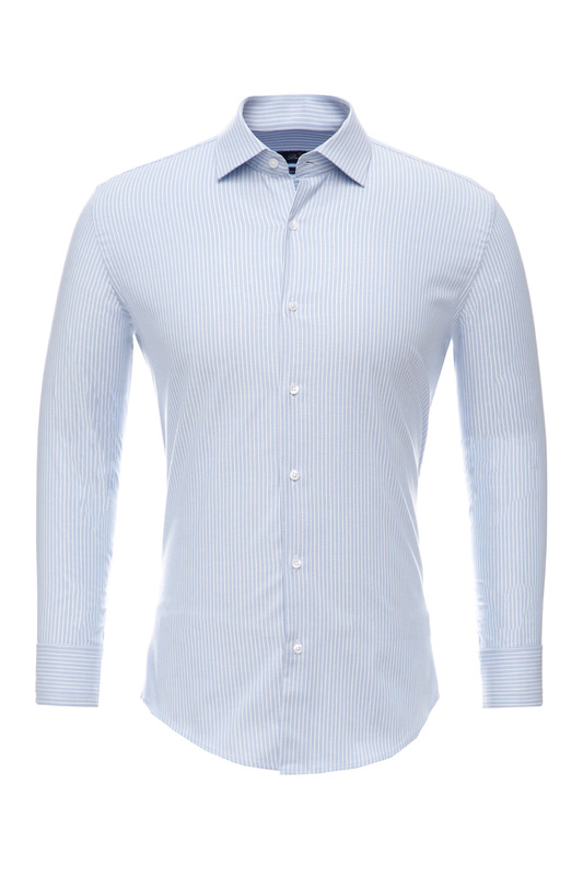 Рубашка мужская BAWER RZ2112081-02 голубая 44
