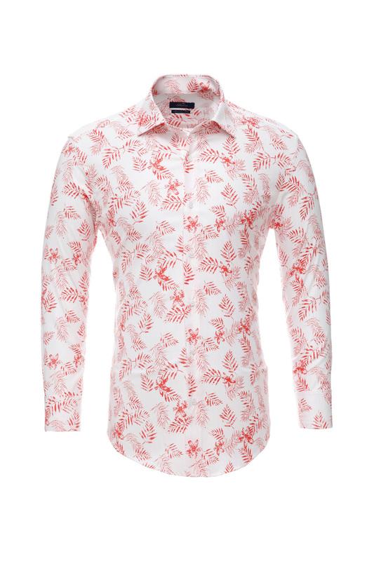 Рубашка мужская BAWER RZ2112078 красная 48