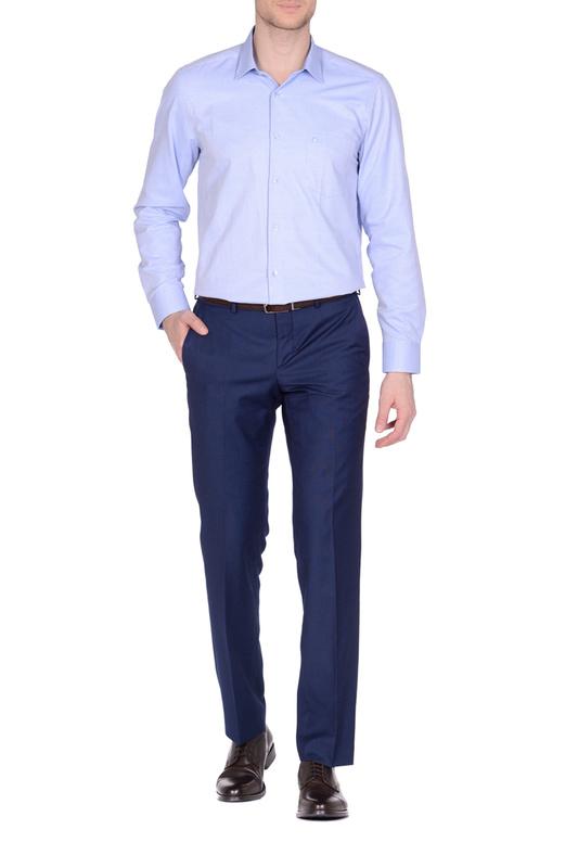 Рубашка мужская KarFlorens MIM8-04 голубая 50
