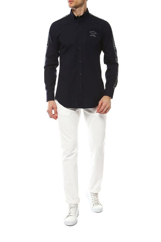 Рубашка мужская Paul & Shark I19P3453/050 синяя 48-50