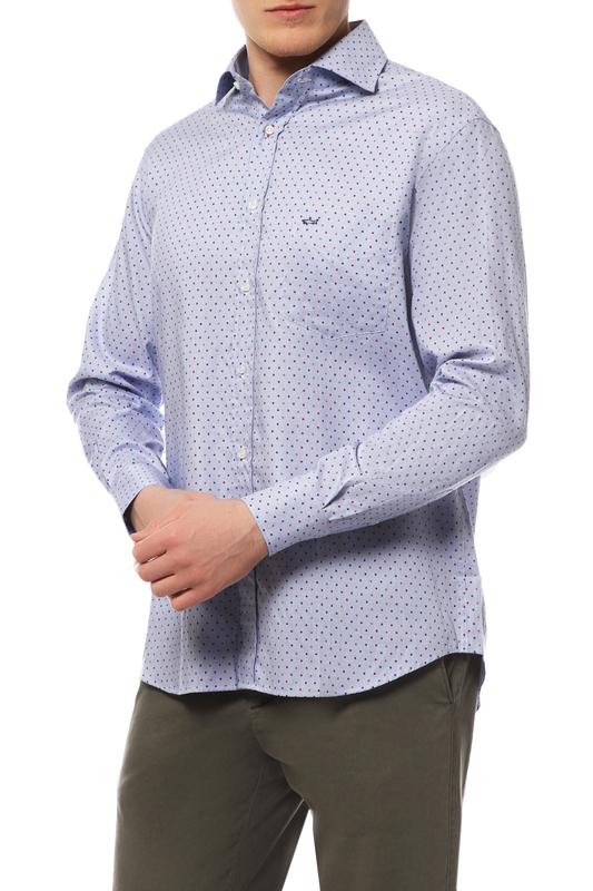Рубашка мужская Paul & Shark I14P1418/170 синяя 48