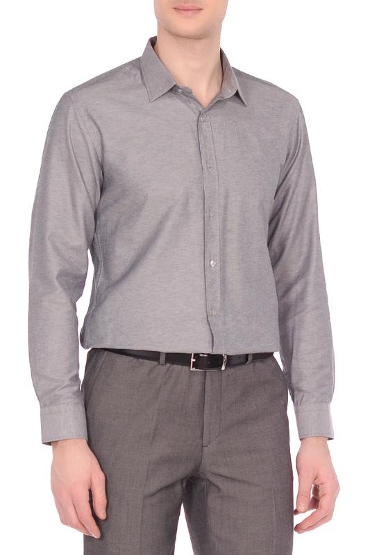 Рубашка мужская KarFlorens GAB-11 серая 50