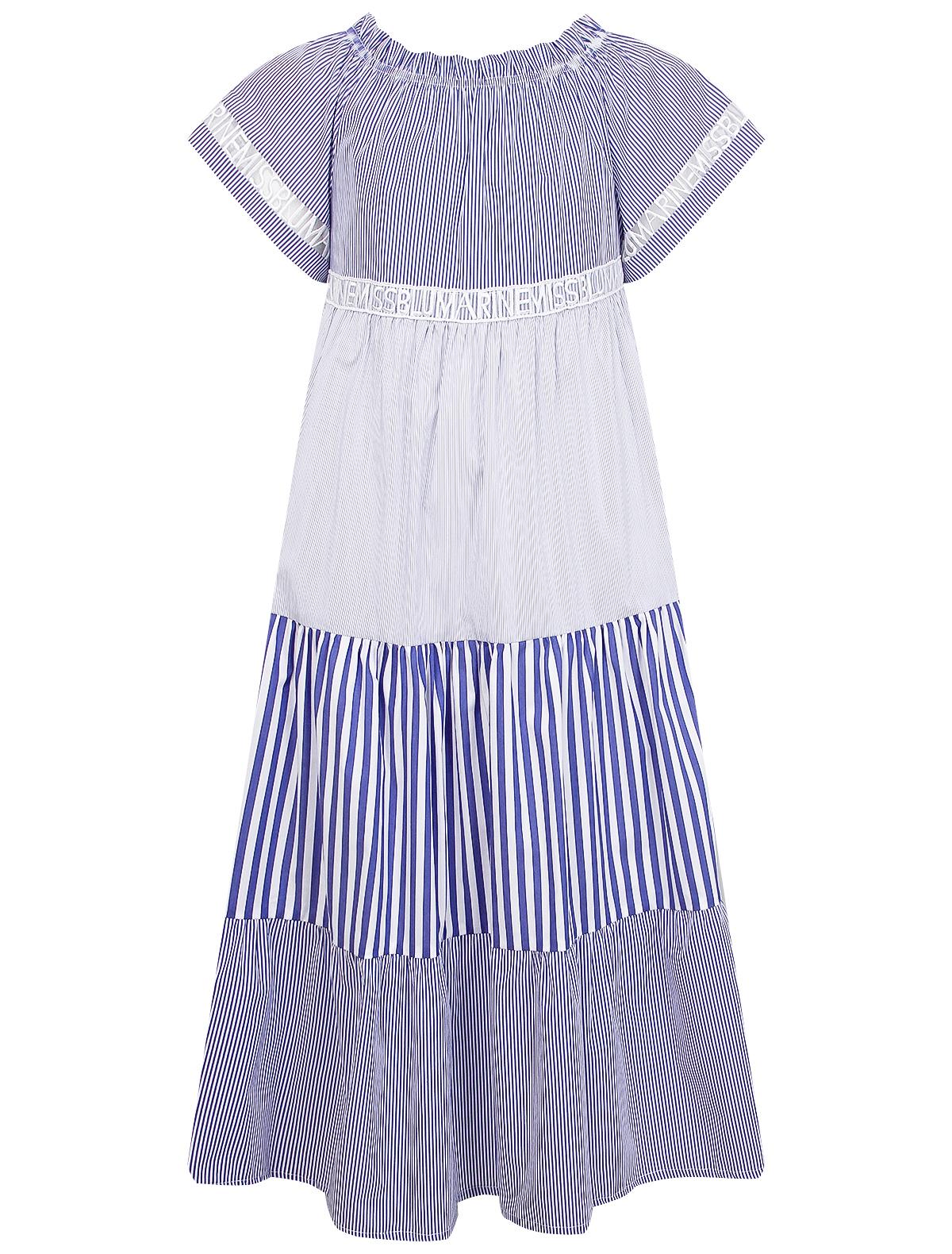 Платье Miss Blumarine цв. синий/белый, р. 134