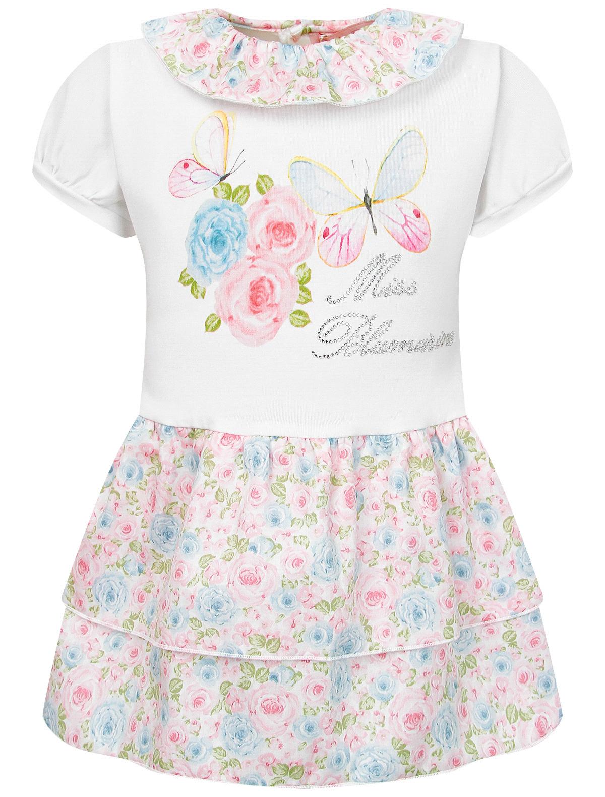 Платье Miss Blumarine цв. белый/розовый/голубой, р. 74