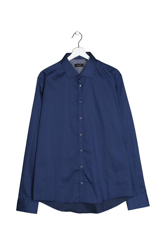 Рубашка мужская Sand FW16 8589 синяя 46