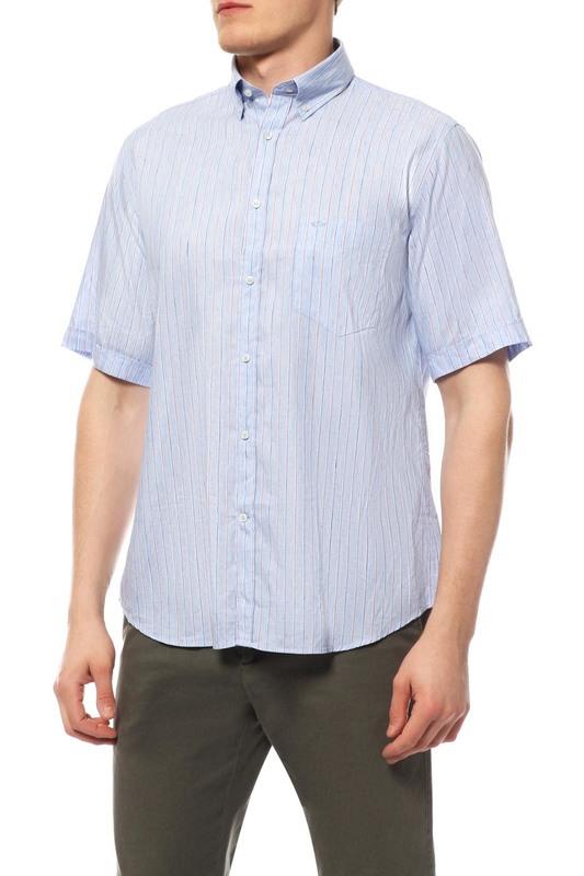 Рубашка мужская Paul & Shark E16P0371/100 голубая 48