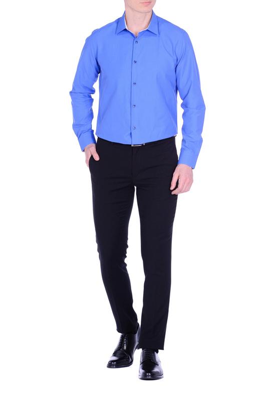 Рубашка мужская KarFlorens CVC-09 синяя 44