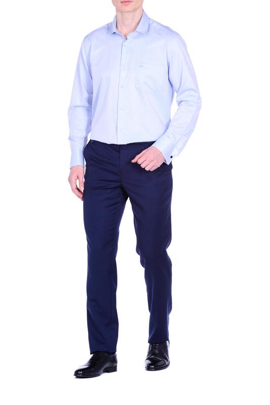 Рубашка мужская KarFlorens BUR10130-04 голубая 46