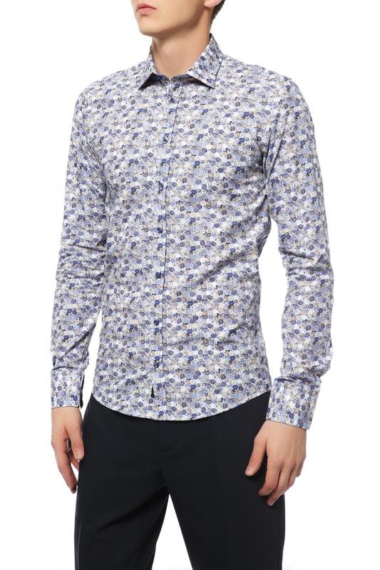 Рубашка мужская Sand BLACK FORMAL SS17 8640 черная 48