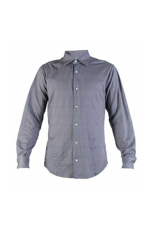 Рубашка мужская Fedeli 91509 серая 50