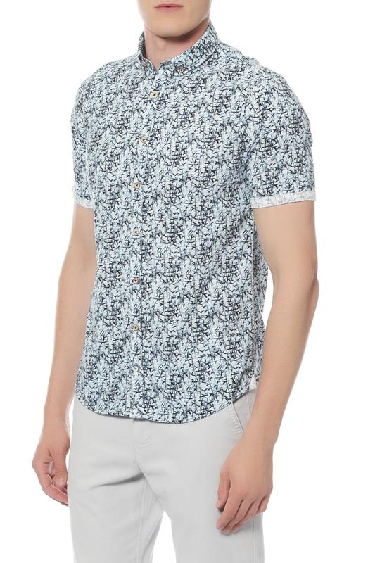 Рубашка мужская Colours & sons 91182200/0197 синяя 48
