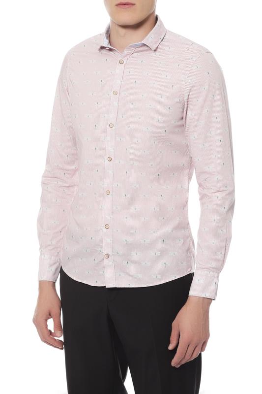 Рубашка мужская Colours & sons 91181600/0161 розовая 50