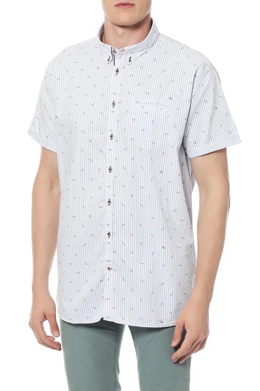 Рубашка мужская Colours & sons 9117/1550/0153 голубая 46