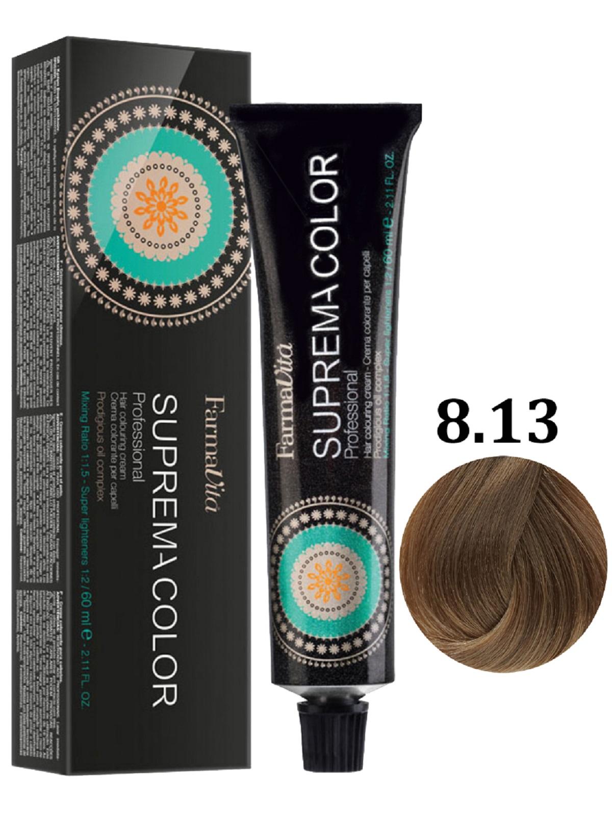 Купить Крем-краска для волос FarmaVita SUPREMA COLOR 8.13 светло-бежевый блондин 60 мл