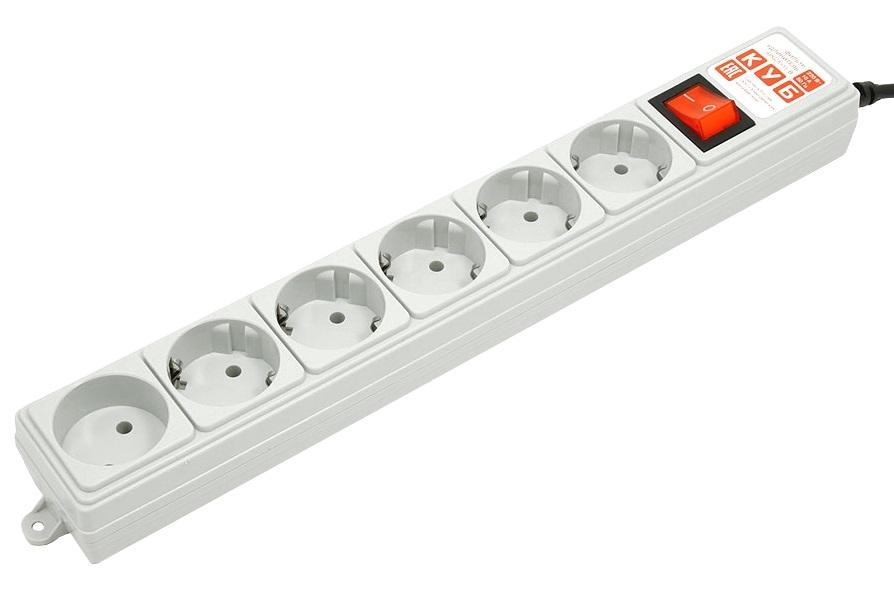 Удлинитель PowerCube SPG(5+1) B 15, 6 розеток,