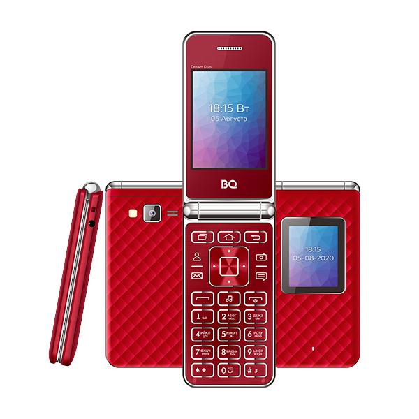 Телефон BQ 2446 Dream Duo (Красный)
