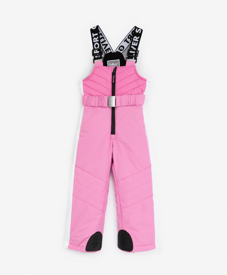 Купить Полукомбинезон детский Gulliver 220FGC6701 розовый р. 128,
