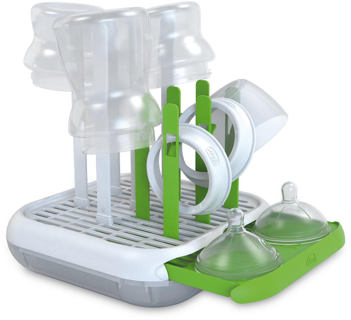Подставка для сушки бутылочек Chicco цвет белый/зеленый