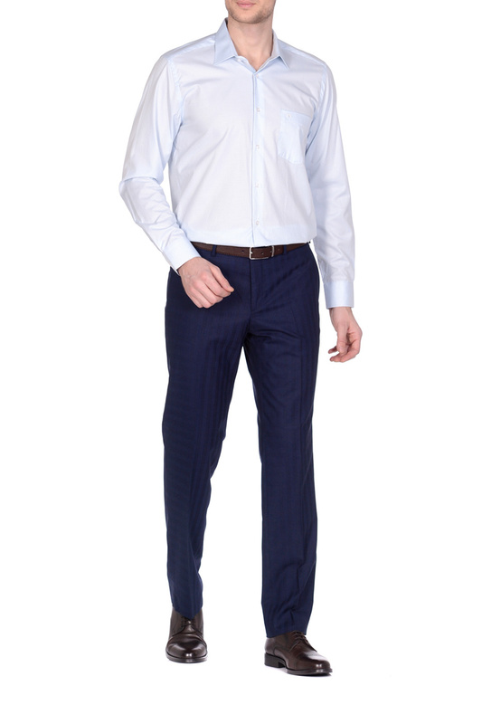 Рубашка мужская KarFlorens 501099-04 голубая 46