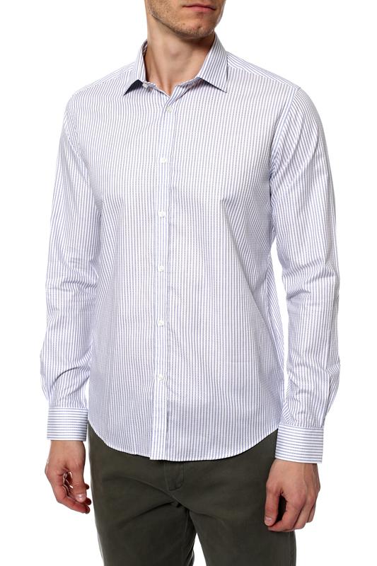 Рубашка мужская MONDIGO 420858 синяя 48