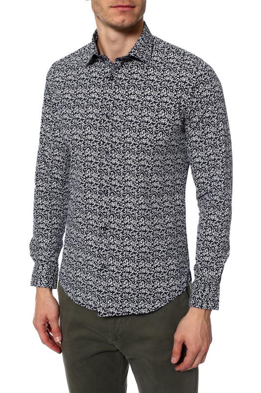Рубашка мужская MONDIGO 420846 синяя 52