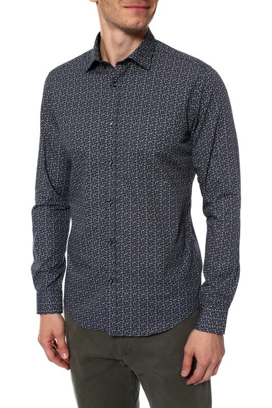 Рубашка мужская MONDIGO 420842 синяя 48