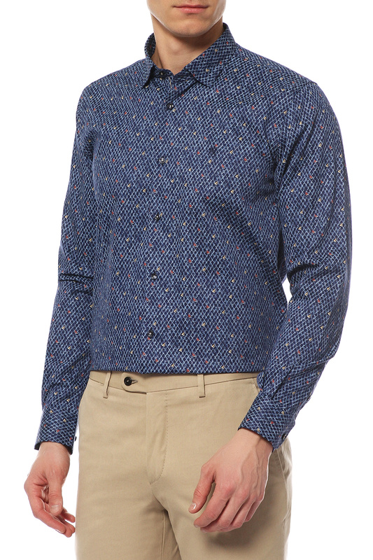 Рубашка мужская MONDIGO 420805 синяя 52