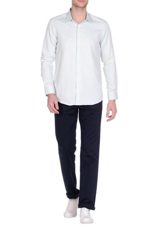 Рубашка мужская KarFlorens 34010-03 зеленая 46