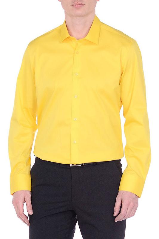 Рубашка мужская BAWER 1R00020 желтая 46